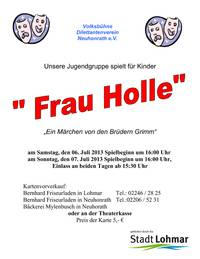 Plakat Kindertheater 'Frau Holle'